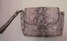 COACH TAYLOR python snake shimmer  embossed flap closure clutch wristlet bag