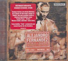 Alejandro Fernandez Mexico Madrid En Directo y Sin Escalas  CD Sealed