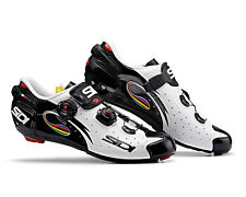 SIDI Wire Carbon Road Cycling Shoes - White/Black/Iride