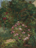 Oil painting gustave caillebotte - The Flower Garden in spring season landscape