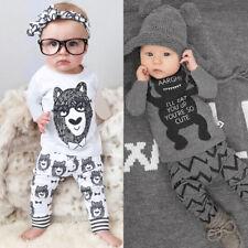 recién nacido Bebés Infantes Bebé Niño Ropa Camiseta Suéter + Pantalones largos