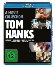 TOM HANKS BOX - APOLLO 13/FORREST GUMP/CAST AWAY/+ 4 BLU-RAY NEU