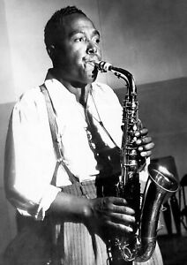 """Reproduction """"Charlie Parker"""" Poster, Jazz, Wall Art, Vintage Print"""