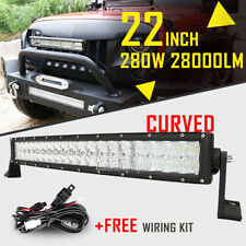 "5D CREE 22"" 280W Curved LED Light Bar Spot Flood Work Driving Fog 4WD ATV 20/24"""