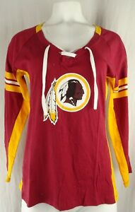 Washington Redskins NFL Majestic Women's Lace-Up T-Shirt