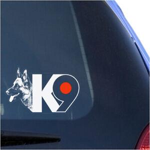 K9 GERMAN SHEPHERD CLEAR VINYL DECAL STICKER FOR CAR OR TRUCK WINDOW, POLICE DOG