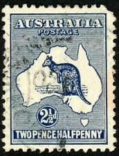 1913 Australia Stamp #4 2 1/2p dark blue, Used H,