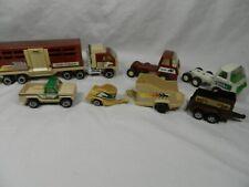 Huge lot of Vintage Tonka Die Cast Trucks Trailers Farm Rodeo Horse 1978 1981
