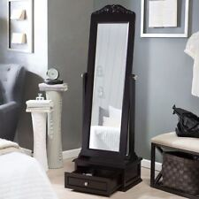 Free Standing Mirror Floor For Bathroom With Storage Cheval Bedroom Shabby NEW