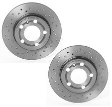 Brembo Xtra Pair Set 2 Rear Drilled Coated Brake Disc Rotors For Audi TT Quattro