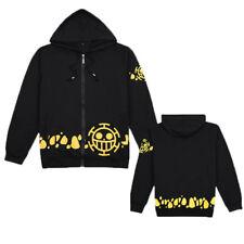 Anime One Piece Trafalgar Law Hoodie Hooded Sweatshirt Jacket Autumn Winter Coat