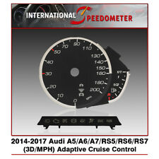 3D Speedometer Faceplate Fits a 2014-2017 Audi A5/A6/A7/RS5/RS6/RS7 MPH (x1Set)