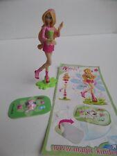 Figurine Kinder FLORA + Autocollant COCO + BPZ DE104 - WINX CLUB - 2009 / 2010