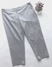 Ladies Silver Grey 7/8 Slim Ankle Trousers UK20 Work Smart Sparkle Gok forTU
