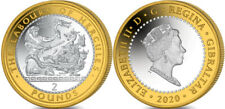More details for two pound £2 coin gibraltar 2020 labours of hercules the lernean hydra  in hand