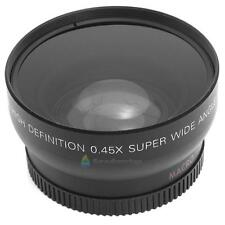 0.45x 52mm Super Wide Angle Macro Lens for Nikon 18-55mm 55-200mm 50mm Black