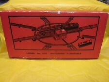 LIONEL TRAIN POST WAR # 375 TURNTABLE ( LOOK ) VERY RARE
