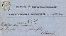 Drukwerk 8 jul 1872 Rotterdam (franco takje) naar Utrecht (tweeletter)