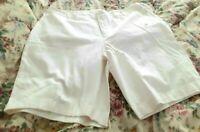 St Johns Bay Womens White Secretly Slender Bermuda Shorts Plus Size 22W  NEW