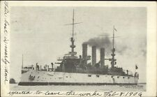 Naval Ship US Battleship Rhode Island c1900 Private Mailing Card #2