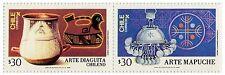 Chile 1986 #1201-1202 Arte Diagita Arte Mapuche Patrimonio Cultural MNH