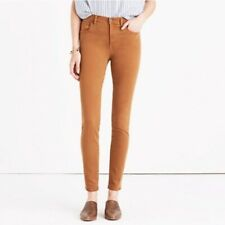 Madewell High Rise Garment Dyed Jeans, Tan Burnished Cedar, 28