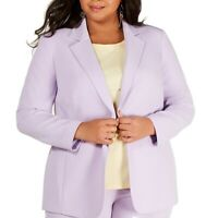Bar III Womens Blazer Purple Size 18W Plus Single Button Notch Collar $129 411