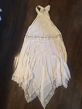 Free People Intimately Free Sheer Halter Slip Dress. Small White