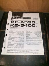 Pioneer KE-A530,5400 Car Cassette Deck Service manual #2