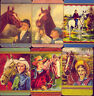 COLES: 6 x SWAP CARDS from 1950s: `COW-GIRLS & HORSES'   NO  RESERVE!!!!