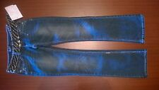 Angels Blue Jeans Size 0 Boot Cut brown gold bronze weave belt