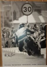 Kerb Crawling iconic road racing North West 200 motorcycle poster Mike Edwards