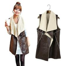 Faux Fur Regular Size Waistcoats for Women without Fastening