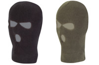 Knitted Balaclava 3 Hole Thermal Thinsulate Winter Warm Olive Green Black