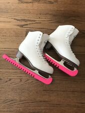 Glacier By Jackson Women's White Ice Skates Size 120/6 With Blade Guards