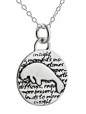 Manatee Charm Necklace - 950 Sterling Silver Handmade Inspirational Pendant NEW