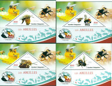 BEES INSECTS FAUNA CHARLES DARWIN MADAGASCAR 2019 MNH STAMP SET 4 SHEETS