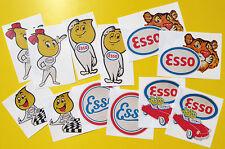 ESSO Classic Car sticker set 'WORN RETRO EFFECT' stickers decals Mini cooper