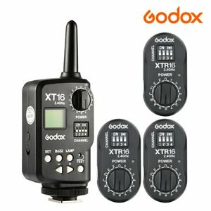 Godox 2.4G XT-16 Transmitter Trigger XTR-16 Studio Strobe Head Monolight Receive