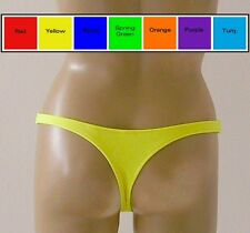 Thong Bikini Bottom in Red, Blue, Purple, Orange, Turquoise, Yellow, Green