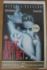 Basic Instinct (1992) VHS ex rental big box video. Retro case for blu-ray disc!