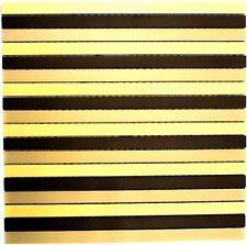 Mosaik Stäbchen Aluminium mix schwarz/bronze/gold Küche Art: 49-B301 | 10 Matten