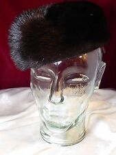 Vtg Sable Mink Fur Pillbox hat - GIGI NEW YORK- beautiful true vintage Chapeau
