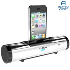 iPhone Docking Station Speaker Portable iPod Dock Classic AZATOM iFlute Silver