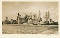 NEW YORK CITY – Lower New York View from the Harbor Real Photo Postcard rppc