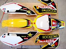 Kawasaki KLX 110 Graphic Rockstar energy w/ Plastics yellow kit free decal sheet