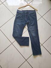 "Abercrombie & Fitch Mens Slim Straight Jeans Dark Wash Whiskered Denim 31 X 30"""