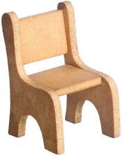 Small Childs Wooden Chair, Dolls House Miniature, Check Size Small 1.12th Scale
