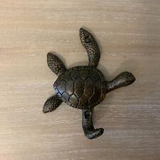 Bronze Turtle Coat Hook Wall Sculpture Vintage Metal Retro Antique Style