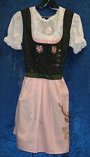 MeLega -Super schönes Dirndl-Kleid mit Stickereien - Gr. 44